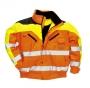 Reflexná Bomber bunda Contrast Plus - oranžová