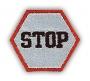 """Reflexná Nažehľovačka - Značka """"STOP"""""""