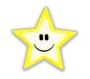 Reflexná Samolepka - Hviezdička