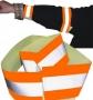 Reflexný pásik látkový, 40cm,oranž