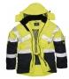 Reflexná bunda  dvojfarebná priedušná PW