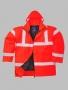 Reflexná bunda Trafic-červená