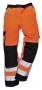 Reflexné dvojfarebné nohavice do pása