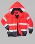 Reflexná dvojfarebná bunda do pása
