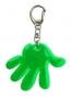 Reflexný prívesok ruka - zelený