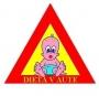 Reflexná samolepka- Dieťa v aute