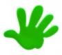 Reflexná samolepka Ruka zelená