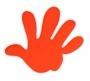 Reflexná samolepka Ruka oranžová