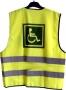 Reflexná vesta pre dospelých-vozíčkar