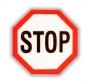 """Reflexná Samolepka -  značka """"STOP"""""""